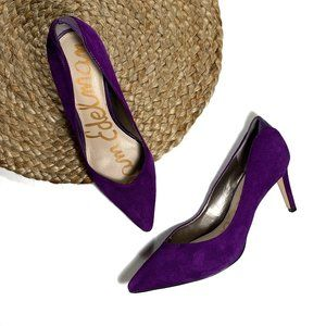 Sam Edelman Purple Dea Suede Leather Pumps 6.5